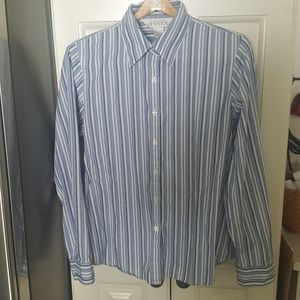 Casual Corner Annex Classic Career Striped Blouse
